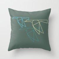 Mid-Century Style Ducks Throw Pillow