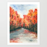 Autumn Journey Art Print