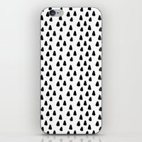 Black and white triangles pattern - classy college student collection iPhone & iPod Skin