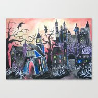 WELCOME To HALLOWEENVILL… Canvas Print