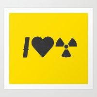 I Love Radiation Art Print