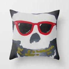 Old Dirty-Crimson Ghost-Face Killa Throw Pillow