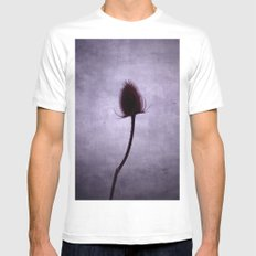 Purple Haze White SMALL Mens Fitted Tee