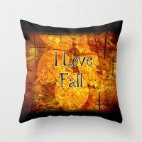 Autumn Memories In Orange I Love Fall.jpg Throw Pillow