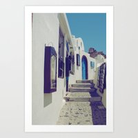 Santorini Walkway V Art Print