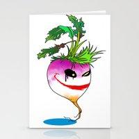 Turnip villain Stationery Cards