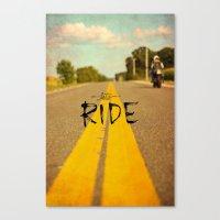 Moto Poster Canvas Print