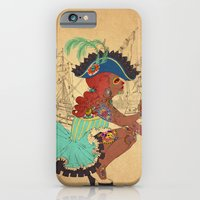 iPhone & iPod Case featuring Tattooed Lady Pirate by Judith Chamizo