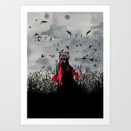 Red Vs The Wolf Art Print