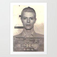 Bowie Mugshot VI Art Print