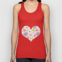 happy flowers Unisex Tank Top