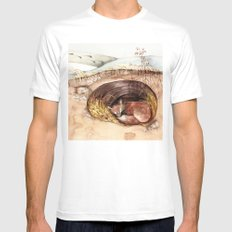 Fox's Den SMALL Mens Fitted Tee White