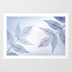 purple fall Art Print
