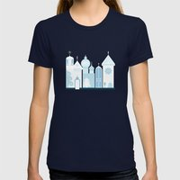 The Ice Castle Womens Fitted Tee Navy SMALL