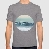 Ocean Waves  Mens Fitted Tee Tri-Grey SMALL