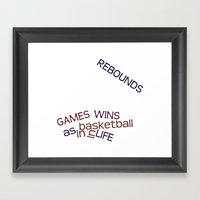 Rebounds Framed Art Print