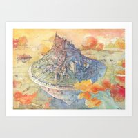 Art Prints featuring The Castle by Luca Massone