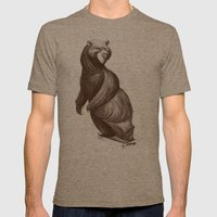 Skatepark Bear Mens Fitted Tee Tri-Coffee SMALL