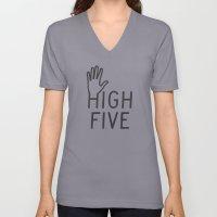 High Five Unisex V-Neck