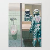 Canvas Print featuring Men's Room by Scott Listfield