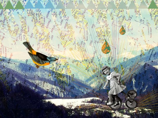 the early girl gets the bird Art Print