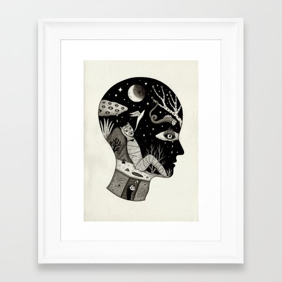 Distorted Recollection of a Dream About Death Framed Art Print