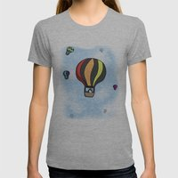 Penguin Transport Womens Fitted Tee Athletic Grey SMALL