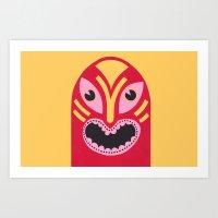 The Jolly Lucha Art Print