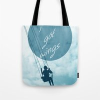 Tote Bag featuring Wings by AA Morgenstern
