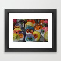 Alabaster Owls Framed Art Print