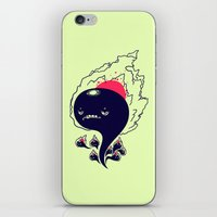 Flaming Squiggles iPhone & iPod Skin