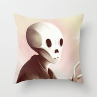 oil worshipper Throw Pillow