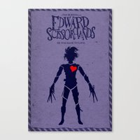 Edward Scissorhands (Alternative Movie Poster) Canvas Print
