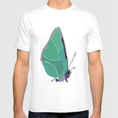 Butterfly Mens Fitted Tee White SMALL