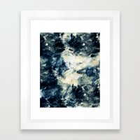 Drowning in Waves Texture Framed Art Print