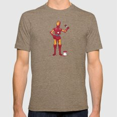 Iron Droid Mens Fitted Tee Tri-Coffee SMALL