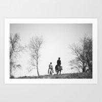 Horse Riders Art Print