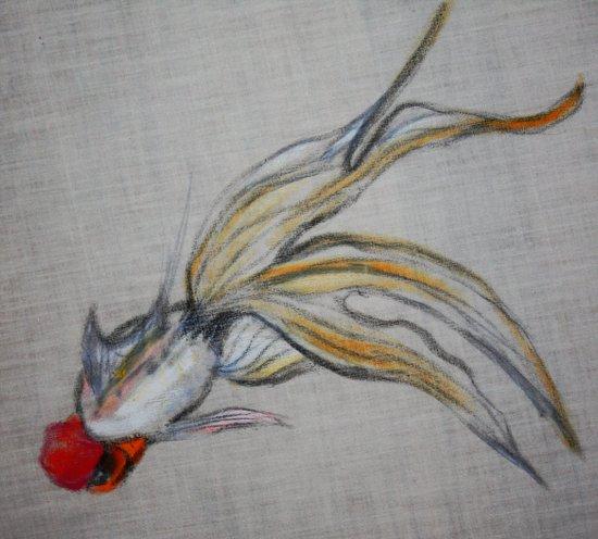 Goldfish Pond (close up#5) Art Print