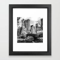 Central Park Bridge. Framed Art Print