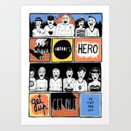 Art Print featuring Superheroes SF by WASTED RITA