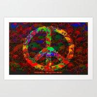 PEACE SKULLS Art Print