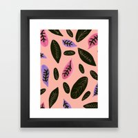 Peachyleaf Framed Art Print