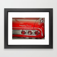 1963 Mercury Comet Red Framed Art Print