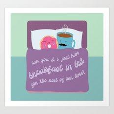 Let's Have Breakfast Art Print