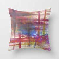 Textural Mountains Throw Pillow