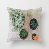 Drought Friendly Plants Throw Pillow