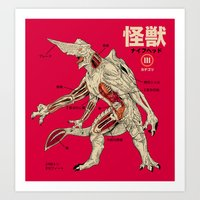 Kaiju Anatomy Art Print