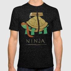 Ninja - Orange Mens Fitted Tee Tri-Black SMALL