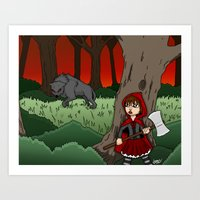 Little Red Riding Hood V… Art Print