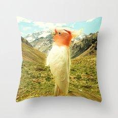 Parrot Mountain Throw Pillow